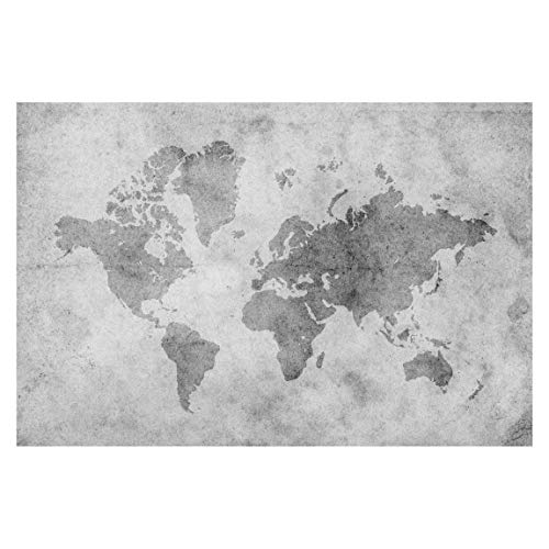 Bilderwelten Fotomural - Vintage World Map II - Mural apaisado papel pintado fotomurales murales pared papel para pared foto 3D mural pared barato decorativo, Dimensión Alto x Ancho: 255cm x 3