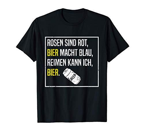 Bier Gedicht Lustige Sauf Sprüche Alkohol Saufen Biertrinker T-Shirt