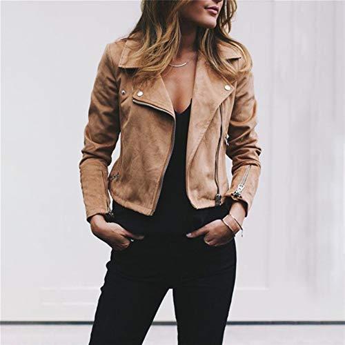 Moda de primavera con capucha superior temperament 2020 de invierno de cuero de la motocicleta chaqueta de cuero otoño Yellow Jackets capa de las mujeres de cuero delgada de la PU de la chaque