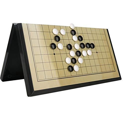 Go-Spiel Magnetisch, 28 x 29 cm, Magnet Gobang Magnetklappspiel Kinder Puzzle Freizeitschach