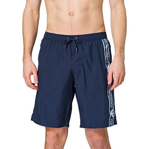 Emporio Armani Swimwear Bermuda Bold Logo Tape Costume da Bagno, Black, 52 Uomo