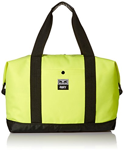 Obey Herren DROP OUT WEEKENDER DUFFLE TOTE BAG Rucksäcke, Grün (Safety Green), Einheitsgröße