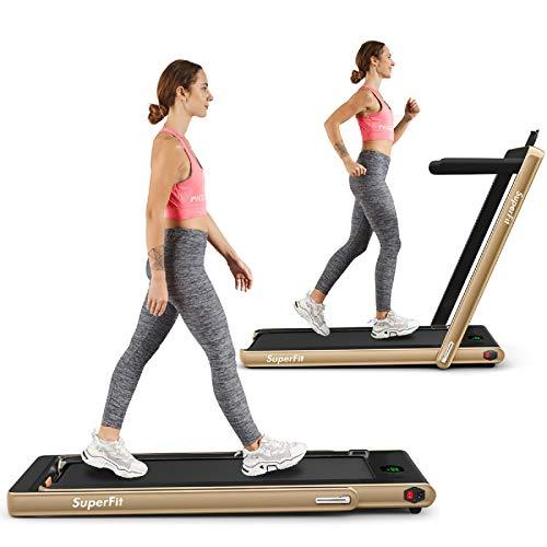 Goplus 2 in 1 Folding Treadmill, 2.25HP Under Desk Electric...