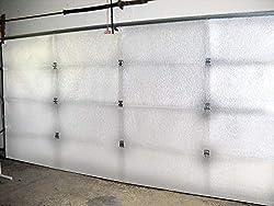 small NASA TECH 2 White Reflective Foam Automatic Garage Door Insulation Kit 16ft (Width) x 8ft (High) R…