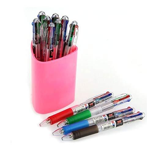 bulingbuling 4 Pluma de Color Pluma Multicolores bolígrafos bolígrafos retráctiles 4 bolígrafos de Color bolígrafos para oficinas y escuelas Estudiantes de papelería Regalo 12pcs