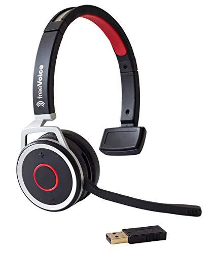 freeVoice Space Mono NC (Bluetooth, USB), FBT650MT, Profi Bluetooth Headset, drahtlos für Softphones und Mobile, fürs Büro, Call Center, Office und unterwegs
