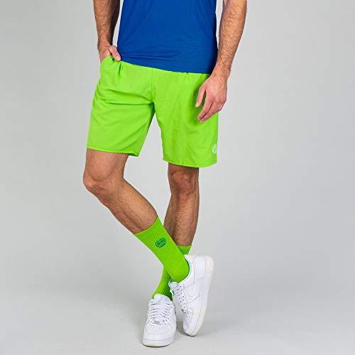 BIDI BADU Henry 2.0 Tech Shorts da Uomo, Uomo, Henry 2.0 Tech Shorts, M31060203-NGN, Verde Fluo, L