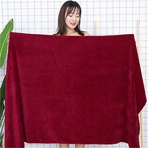 Lyolk Toallas Grandes y cómodas, Toallas de baño Suaves y absorbentes para Adultos-Vino Rojo_Super Grueso 80 * 180 cm