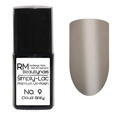 Simply-Lac Premium UV-Polish Nr. 9 Cloud Grey Hellgrau 10ml Nagelgel UV-Nagellack RM Beautynails