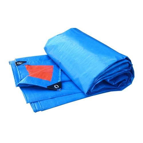 Hoja de lona, cubierta de lonas azules Cubierta de terreno para acampar Refugio a prueba de intemperie temporal Tienda de toldos Toldo de suelo Hoja de hamaca Huella Coche Jardín Madera Lluvia Mosca