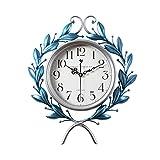 Reloj de Pared Reloj de Pared atmosférico Decorativo, Sala de Estar de Hierro Forjado Tridimensional Art Mute Wall Charts, Creativo Moda Tendencia Europeo Relojes Moderno Decoración de la Sala Cocina