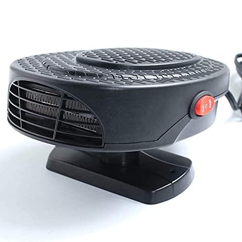 HUIXINLIANG Calentador de automóviles, ventilador de calentador de automóviles portátil, complemento anti-niebla 150W 12V / 24V Fan de ventilador de parabrisas, ventilador de calentador de rotación de