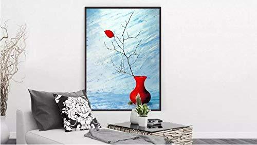 YJLMT Plakat Leinwand Gemälde Wandbild Dekorative Gemälde Schöne Minimalistische Vase Ölgemälde Dekorative Gemälde Modulare Bild Wandkunst Leinwand Gemälde Für Wohnzimmer Ohne Rahmen