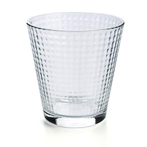 Luminarc Lina - Set 6 vasos forma baja 25cl, Aptos para lavavajillas, vidrio