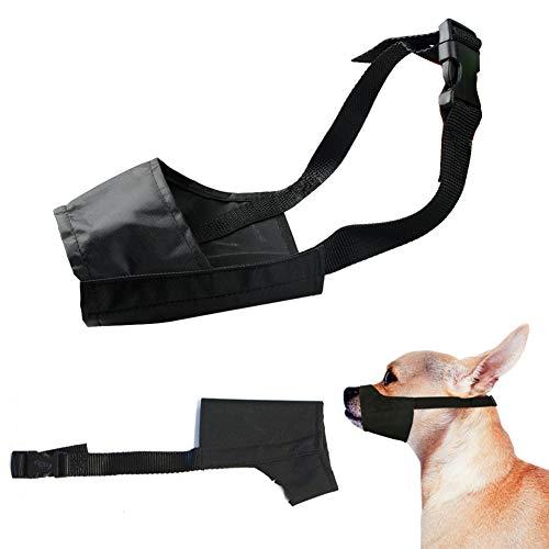 HUAZONG Maulkorb Mesh Einstellbar Nylon für meistens Hunde vom Beisen, Bellen und Kauen abzuhalten (XS:14CM, Schwarz)