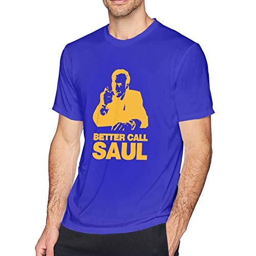 Better Call Saul1 Men's Short Sleeve T-Shirt Fashion Printed Casual Short Sleeve Cotton Blue S