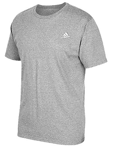 adidas Men's The Go to Tee Shortsleeve (Medium) Medium Grey Heathered
