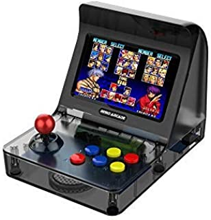Mini Arcade Games Machine Portable,JULYFOX Handheld Retro Game Consoles 3000 Classic Arcade Video Games W/ Joystick 4.3 inch TV Support Contra Street Fighter Donkey Kong Galaga For Kids 80s 90s Black
