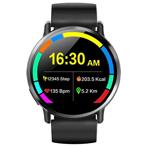 HJKPM HD Smartwatch 4G De 8 Millones De Píxeles, Reloj Inteligente IP67 A Prueba De Agua GPS 4G Ranura para Tarjeta SIM Incorporada Y Soporte para Conexión 4G Y Llamadas Telefónicas Manos Libres