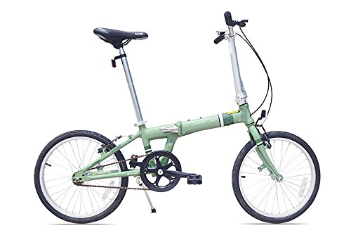 Allen Sports Downtown Aluminum 1 Speed Folding Bicycle, Green, 12-Inch/One Size