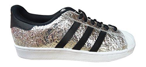 Adidas Superstar AQ2951 Scarpe da ginnastica, colore argento/nero/bianco, numero 42,5