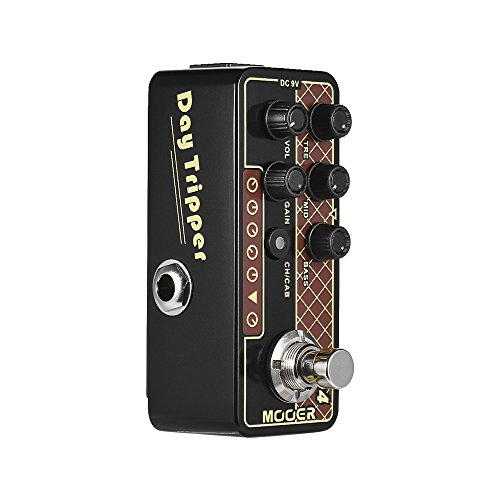 Muslady MOOER Effektpedal Vorverstärker Gitarre Twang Digital MICRO PREAMP Series 004 Day Tripper 60's UK Wahr Bypass
