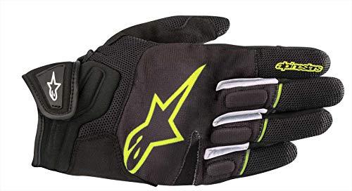 Guantes de Moto Alpinestars Atom Guantes Negro Amarillo Fluo, Negro/Amarillo, XL
