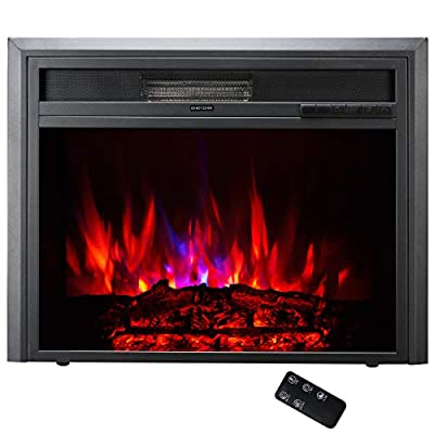 TAGI 30'' Embedded Electric Fireplace Insert, Recessed Electric Stove Heater with Remote Control
