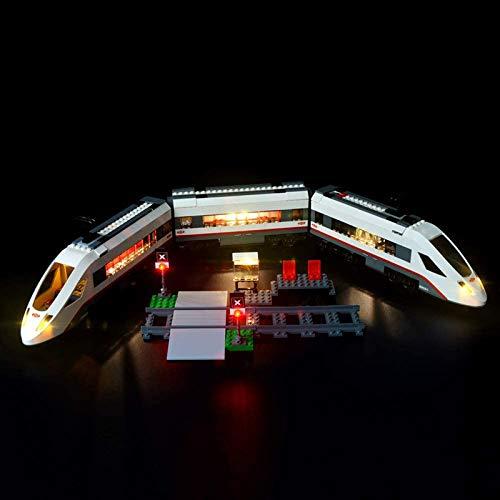 HLEZ Conjunto de Luces Lluminación para Tren de pasajeros de Alta Velocidad Modelo de Bloques de Construcción, Kit de Luces Compatible con Lego 60051 (Modelo Lego no Incluido)