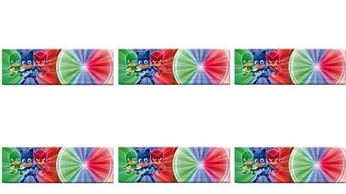 0561; 6 pack uitnodigingen met pj maskers envelop, ideaal voor feesten en verjaardagen.
