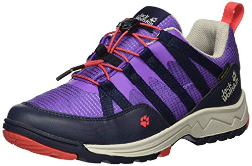 Jack Wolfskin Unisex-Kinder Thunderbolt Texapore Low K Trekking- & Wanderhalbschuhe, Violett (Purple/Dark Blue 2823), 29 EU