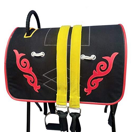 Conjunto completo de sillín integrado de sillín de caballo accesorios de sillín de resistencia sillín completo arnés de caballo silla de montar equitación occidental de carreras de campo