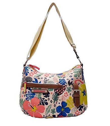 Lily Bloom Kathyrn Convertible Hobo Crossbody Bag, Floral Pineapple