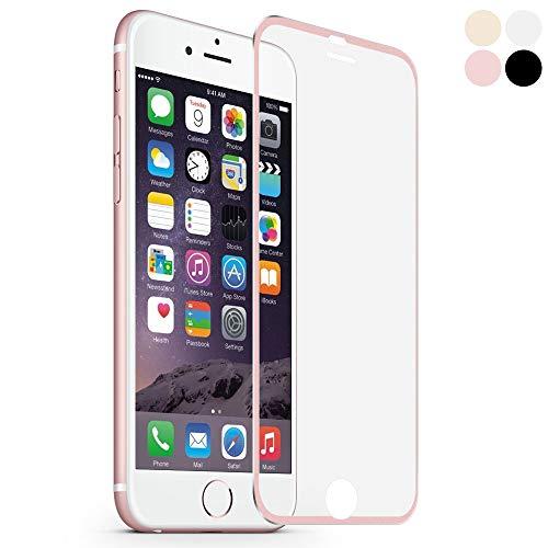 MuStone Protectores de pantalla para iPhone 6 6s, Protector de pantalla 3D Protector de pantalla de vidrio templado Reemplazo de cubierta completa para iPhone 6 6s Película 4.7 '' (Metal rosa oro)