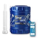 MANNOL 10L Safari 20W-50 Universal Motoröl API SN/CH-4 für Oldtimer + Öl Ablassschlauch