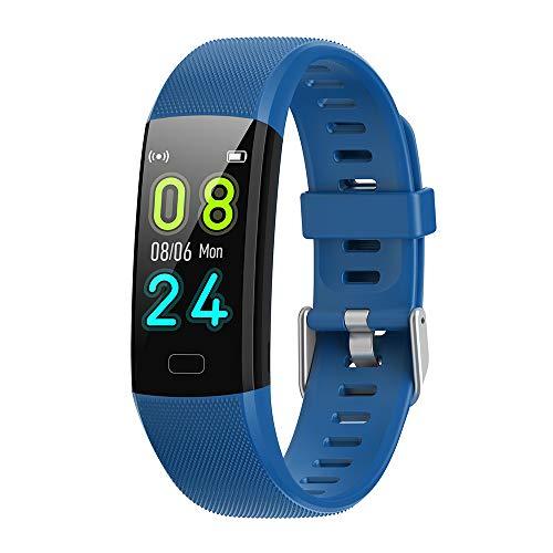 Smart Watch frequenza cardiaca, tracker fitness attività, monitor del sonno, GPS, batteria a lunga durata, contacalorie, compatibile iOS e Android, impermeabile IP68, braccialetto contapassi