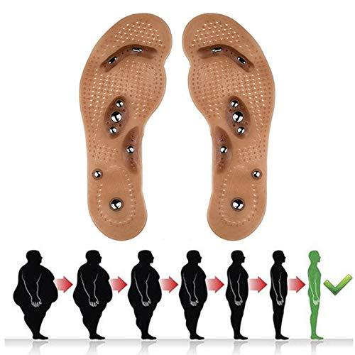 XLBHD Magnetfeldtherapie Abnehmen Einlegesohlen Fuß Akupunkturpunkt Therapie Einlegesohle Massagegerät Entlasten Füße Schmerzen Verbessern Die Durchblutung Für Männer Frauen