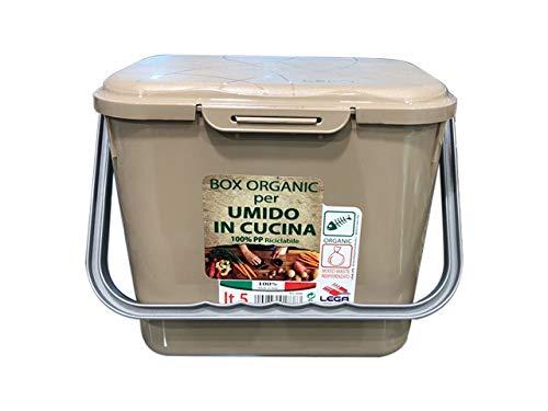 LEGA Pattumiera Cucina per Organico, 5 lt, Multicolore, Taglia Unica