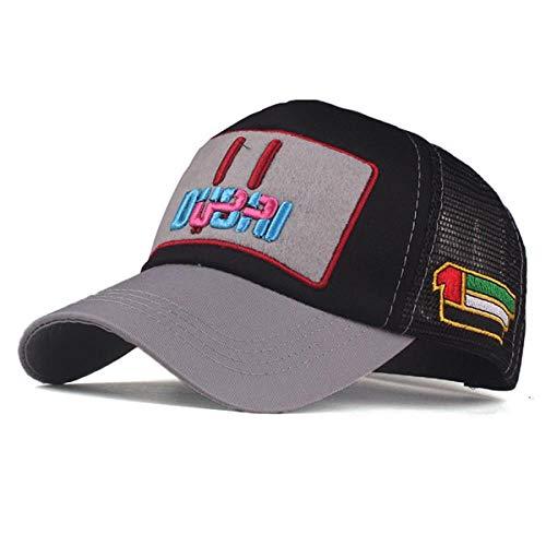 YDXC Cap Frauen Mesh Dubai Baseball Cap Stickerei Cap Hut Für Männer Mädchen Hysteresenhut Gorra Hombre Hut Lässig Cap Papa Hut-In Herren Baseball Caps Von Apparel Zubehör, Grau Schwarz B