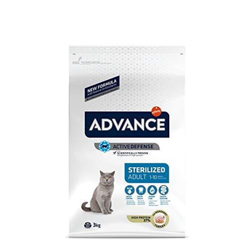 ADVANCE Sterilized - Croquettes pour Chat Stérilisé Adulte avec Dinde et Orge - 3Kg