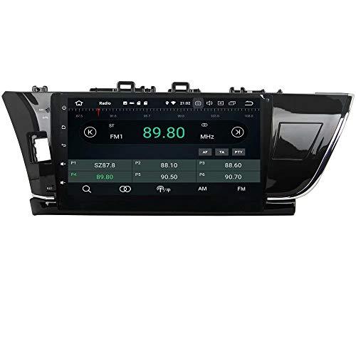 ROADYAKO 64 Go Android 8.0 pour Toyota Corolla 2014 2015 Autoradio Stéréo avec Navigation GPS 3G WiFi Lien Miroir RDS FM AM Bluetooth Audio Vidéo