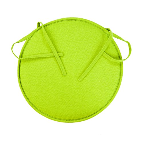 Anjosa 1-Al2 kussen, rond, groen, 38 x 38 x 3 cm