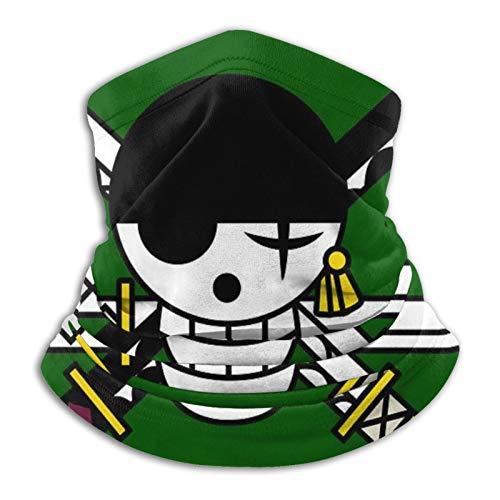 One Piece Anime - Roronoa Zoro Unisex Anti Dust Wind Uv Sun Neck Gaiter Face Mask Headband Bandana Mouth Cover Hair Ties Scarf Helmet Liner