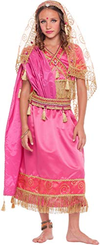 chiber Disfraces Disfraz de Chica Hindú para Niña (7 años)