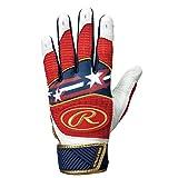 ローリングス(Rawlings) 野球用 <両手用>バッティンググラブ USA MODEL WH950BGJP2 ホワイト/レッド/ネイビー サイズ USA XL
