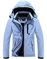 MOERDENG Women's Waterproof Ski Jacket Warm Winter Snow Coat Mountain Windbreaker Hooded Raincoat Snowboarding Jackets