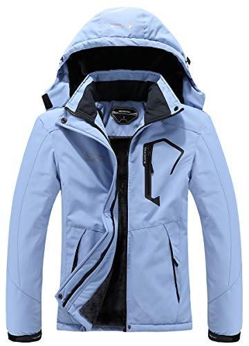 MOERDENG Women's Waterproof Ski Jacket Warm Winter Snow Coat Mountain Windbreaker Hooded Raincoat