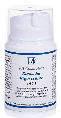 Basische Tagescreme pH 7, 5 Creme für den Tag, Basencreme, ph-Cosmetics, 50 ml