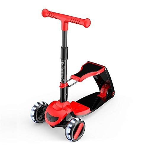 Purchase TTWVUSGD Lightweight Foldable Design Beginner Kick Scooter with Removable Seat for Kids Per...