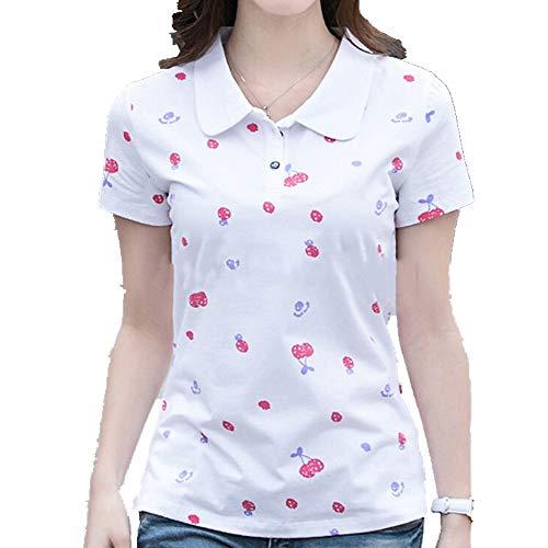 Camiseta de manga corta para mujer. Blanco M